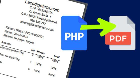 Ticket en PDF