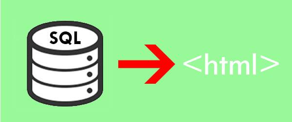 Mostrar datos SQL en HTML