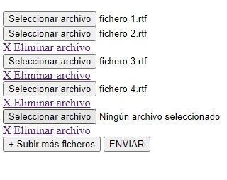 Subir varios ficheros de uno en uno